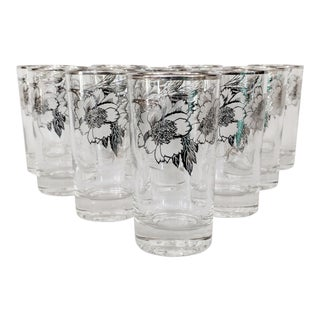 Sterling Silver Overlay Tumbler Glasses - Set of 10 For Sale