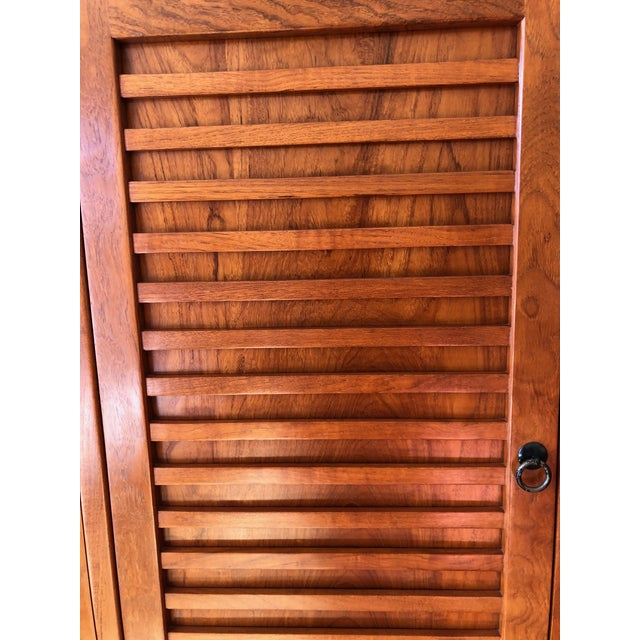Asian Solid Cherry Wood Japanese Tansu For Sale - Image 3 of 6