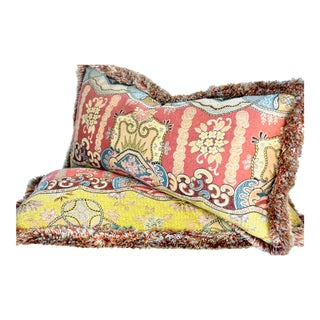 "Clarence House ""Dragon Empress"" Pillow Pair For Sale"