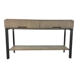 Organic Modern Wood and Metal Console Table For Sale