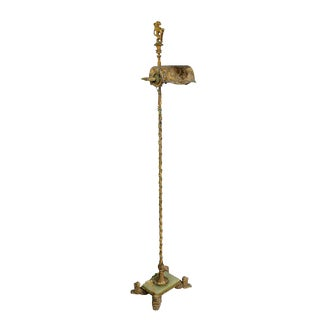 Renaissance Revival Wrought Iron and Bronze Floor Lamp For Sale