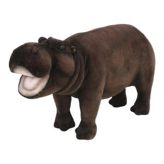 Hansa Mechanical Huge Stuffed Hippopotamus For Sale