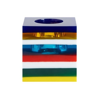 Jonathan Adler 'Bel Air' Stacked Lucite Vase For Sale