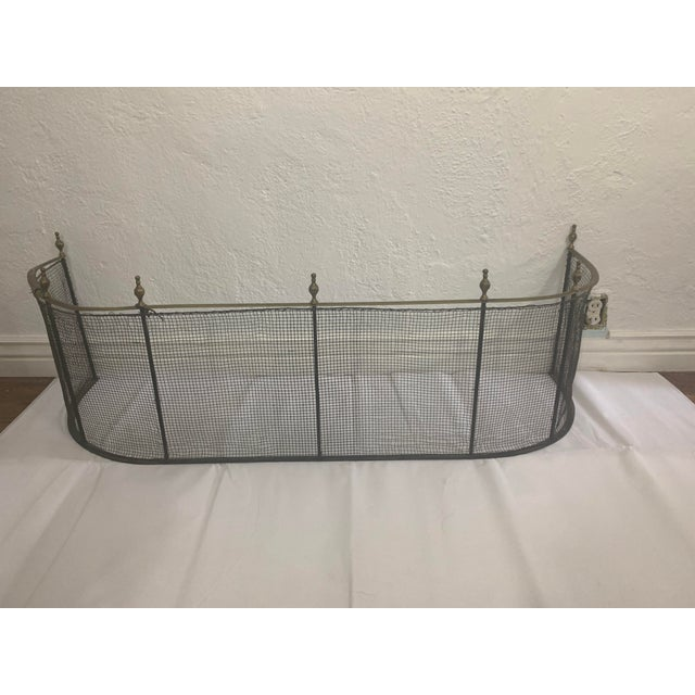 1800 Federal Style Brass and Wire Steeple Top Fire Fender For Sale - Image 12 of 13