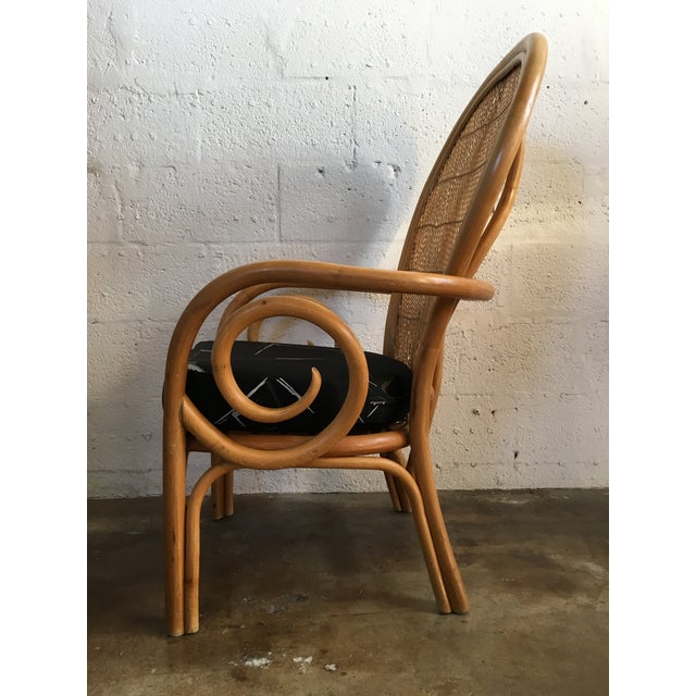 Vintage Mid Century Modern Bamboo Rattan Accent Chair. For Sale In Miami - Image 6 of 8