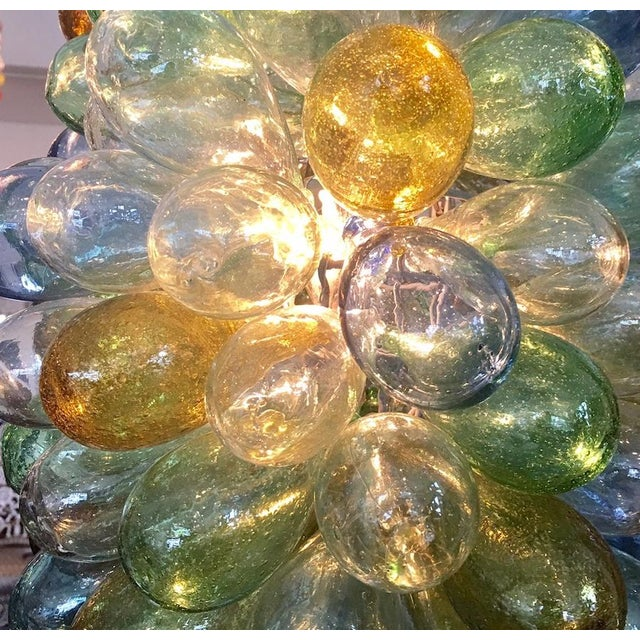 Syrian Handblown Glass Light Fixture For Sale In Los Angeles - Image 6 of 7