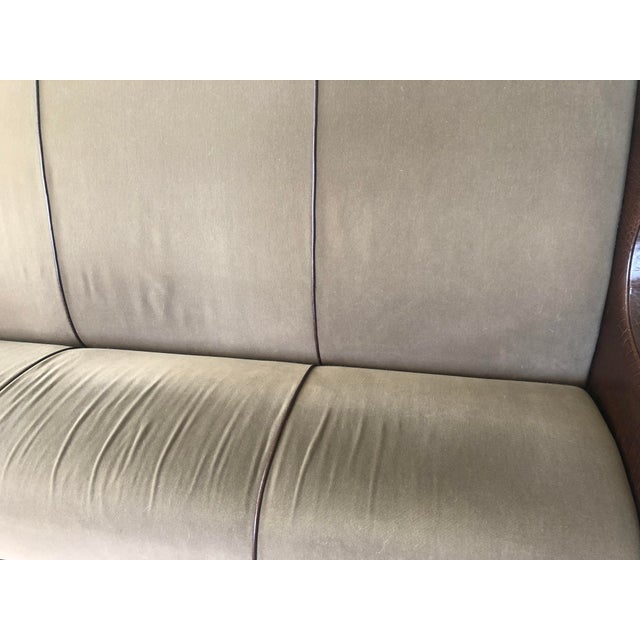 Animal Skin Vintage Fendi Highback Sofa For Sale - Image 7 of 11