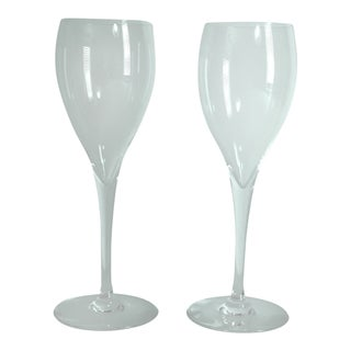 Baccarat Crystal St. Remy Claret Wine Goblets/Champagne Flutes - A Pair For Sale