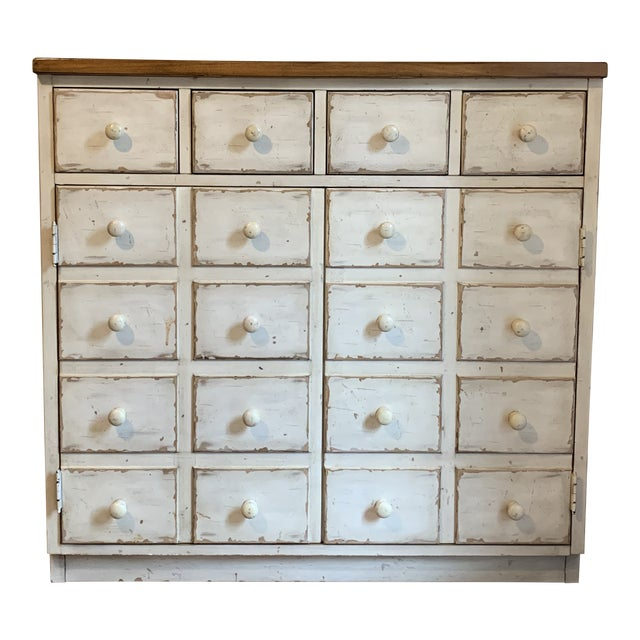 Andover Rustic Pottery Barn Cabinet For Sale