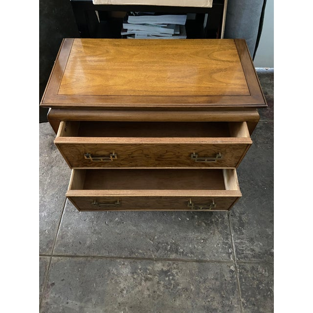 Mid 20th Century Century Furniture Chin Hua Chinoiserie Two Drawer Nightstand For Sale - Image 5 of 9