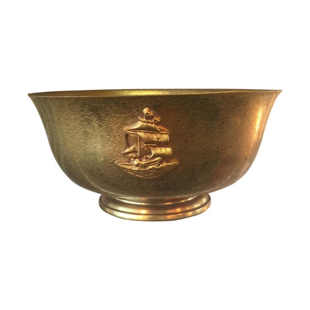 Tiffany Bronze Gold Guilt Bowl - Image 1 of 5