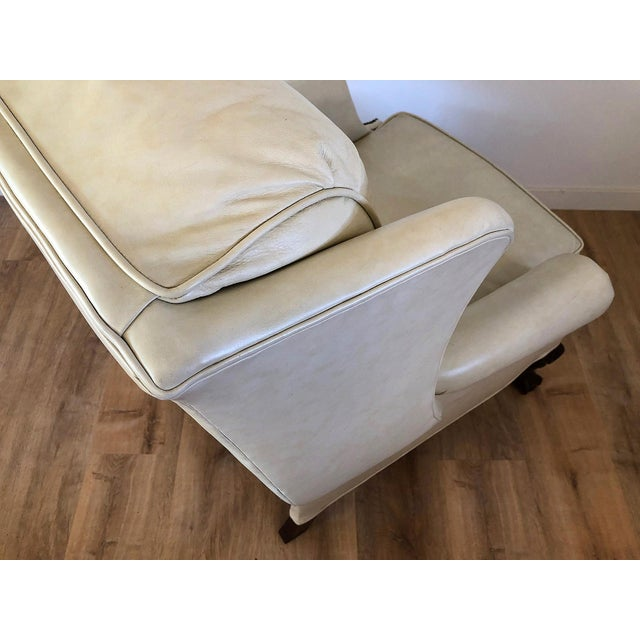 Vintage Bradington Young Leather Wingback Recliner For Sale - Image 9 of 13