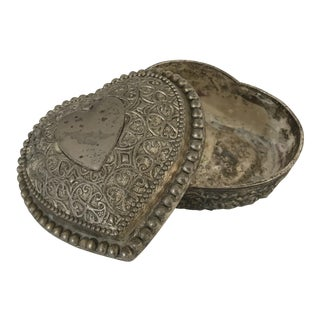 19th Century Turkish Copper Jewelry Box For Sale