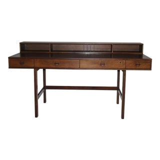 1970s Danish Modern Løvig Nielson Flip-Top Partner Desk
