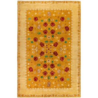 Vintage French Deco Rug by Paule Leleu For Sale