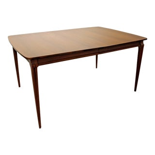 Mid-Century Danish Modern Walnut Extendable Dining Table