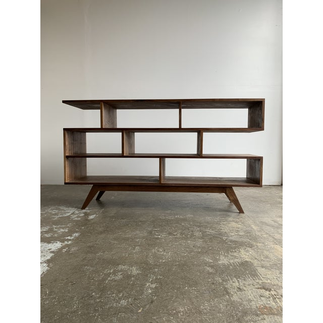 Walnut Modern Book Case For Sale - Image 13 of 13
