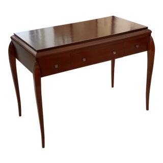 Art Deco Maison Soubrier Paris Writng Desk 3-Drawer For Sale