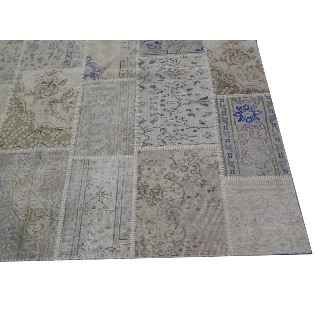 Vintage patchwork handmade Turkish rug. Lovely addition to your home.
