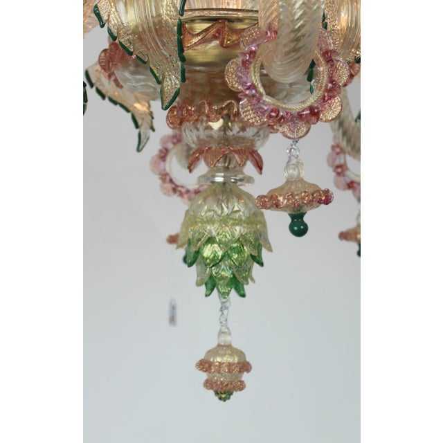Italian Venetian Glass Chandelier For Sale In West Palm - Image 6 of 11