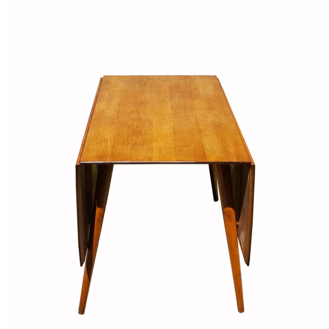 1950s Mid Century Modern Paul McCobb Planner Group Drop-Leaf Dining Table For Sale In Portland, ME - Image 6 of 11