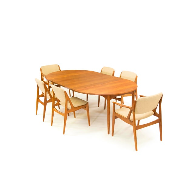 Arne Vodder Sibast - Mid- Century Solid Teak Dining Table With 2 Leaves. For Sale In Phoenix - Image 6 of 12