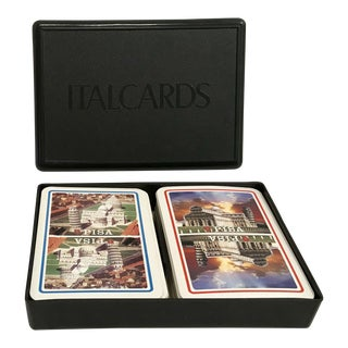 Italian Double Playing Card Set With Box For Sale