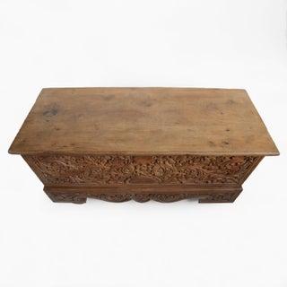 Antique Java Teak Wood Trunk Preview
