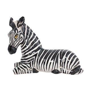 1960s Italian Terracotta Zebra For Sale