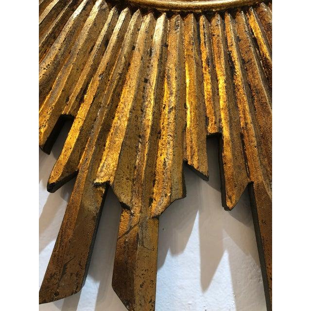 Gilt Wood Sunburst Mirror For Sale - Image 12 of 13