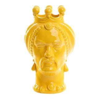 Sicilian Yellow Head Small, Schittone Modern Moro For Sale