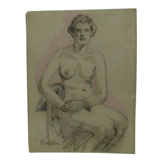 "Original Drawing Sketch ""Dolly"" by Tom Sturges Jr., 1950"
