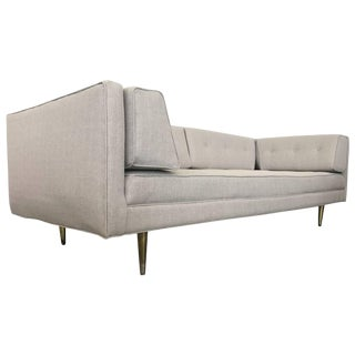 Mid-Century Modern Sofa Brass Feet For Sale