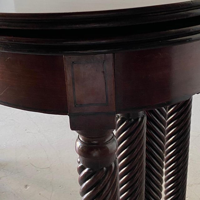 Brown 19th Century Regency Mahogany Accordion-Action Dining Table For Sale - Image 8 of 9