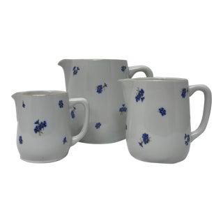 1960s Porcelain Pitchers - Set of 3 For Sale