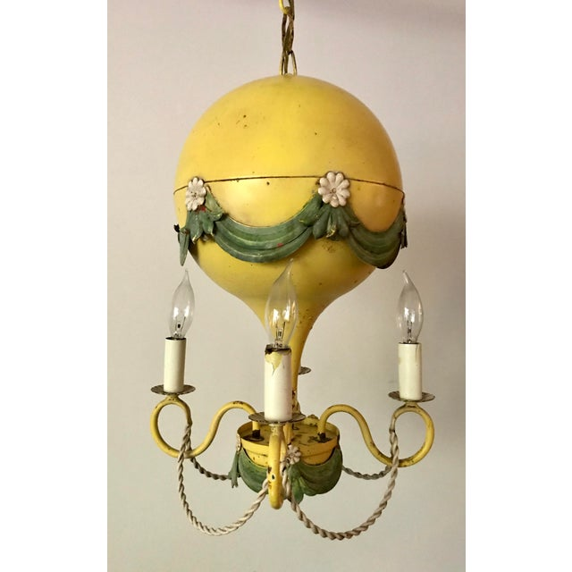 French 1930's French Hot-Air Balloon Chandelier For Sale - Image 3 of 13