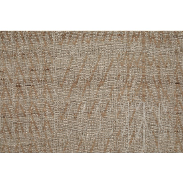 Contemporary Indian Handwoven Bedcover Tree Natural For Sale - Image 3 of 5