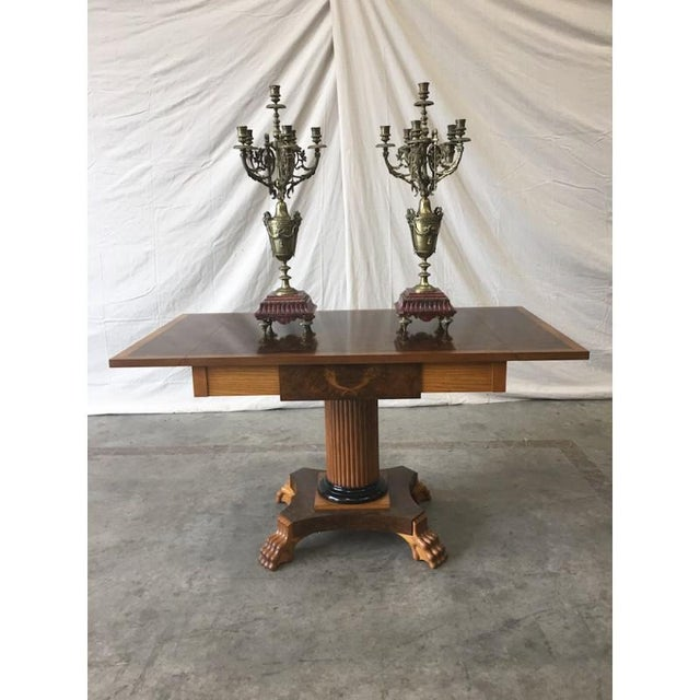 Late 19th Century 19th C. French Antique Gilt & Marble Candelabras - a Pair For Sale - Image 5 of 8