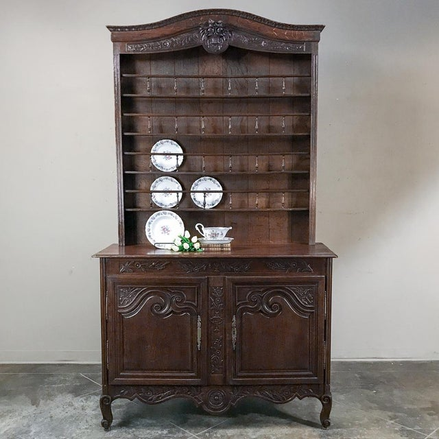 19th Century French Normandy Vaisselier ~ Buffet was designed to hold a place of honor in the family's most-often used...