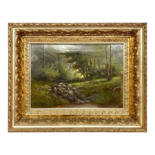 Charles Rising Landscape Oil on Canvas Painting For Sale