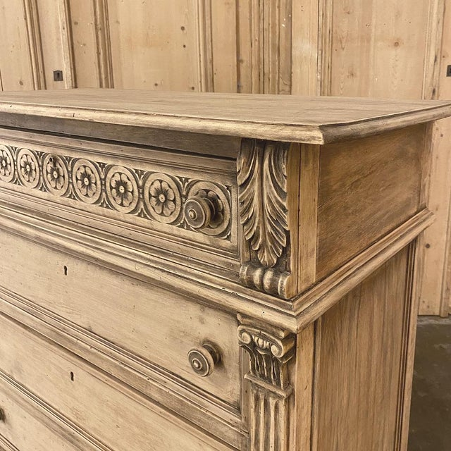 Antique Italian Renaissance Stripped Walnut Commode For Sale - Image 11 of 13
