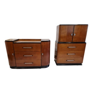 American Art Deco Casegood Set - a Pair For Sale