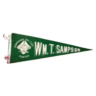 Vintage WM Sampson Guantanamo Bay Felt Flag For Sale