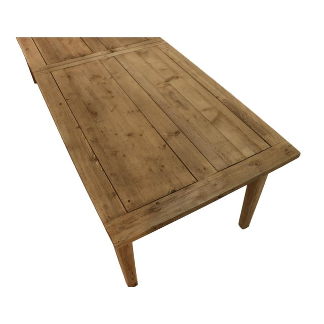 Parsons Rectangular Reclaimed Old Wood Dining Table - Image 8 of 10