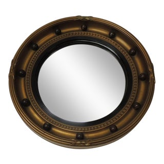 Vintage English Federal Style Bulls Eye Mirror For Sale