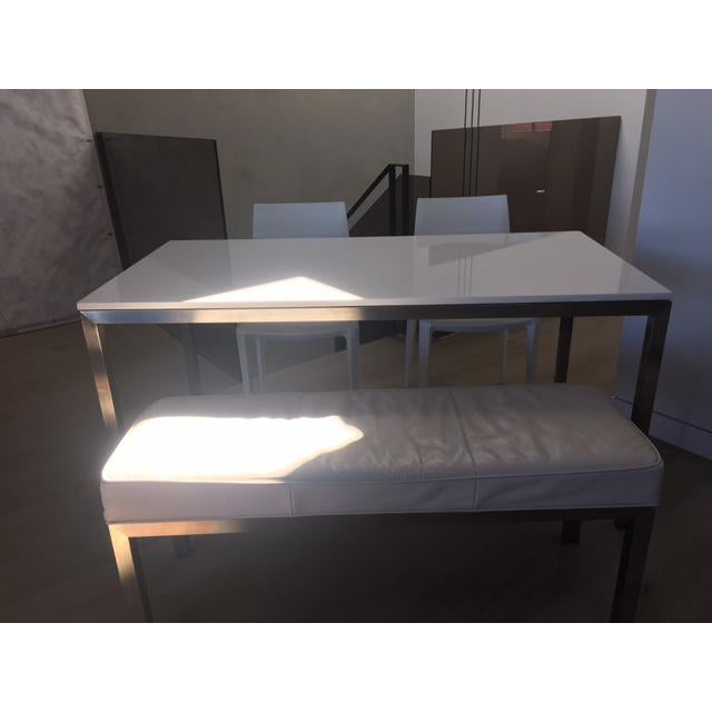 Room & Board Portico Table With Bench & Chairs - Set of 4 - Image 4 of 7