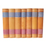 Image of Scandinavian Leather-Bound Books S/7