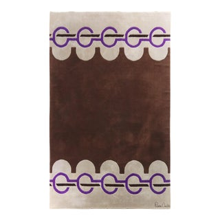 1960's Vintage Wool Rug by Pierre Cardin-6'9'x10'10' For Sale