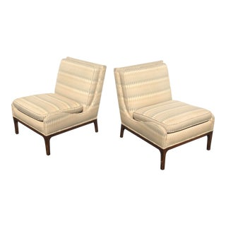Pair Mid-Century Modern Slipper Chairs For Sale