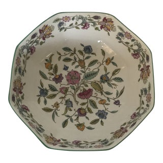 Vintage English Minton Octagonal Floral Bowl For Sale